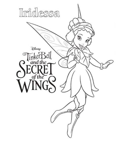 Kids n fun 15 coloring pages of Tinkerbell Secret of