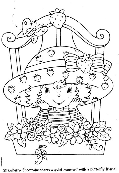 Kids n fun 22 coloring pages of Strawberry Shortcake
