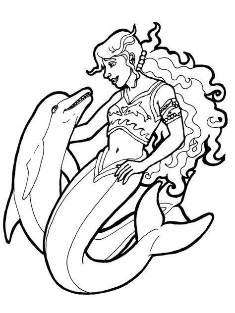 Kids n fun 29 coloring pages of Mermaid