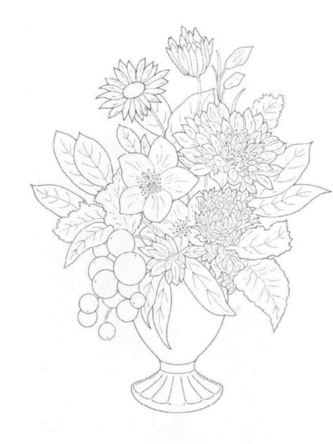 Kids n fun 30 coloring pages of Bouquets