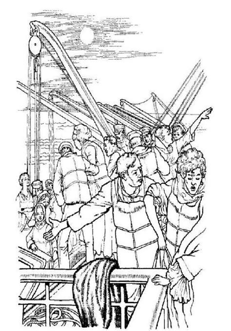Kids n fun 30 coloring pages of Titanic