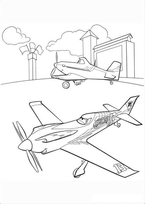 Kids n fun 33 coloring pages of Planes