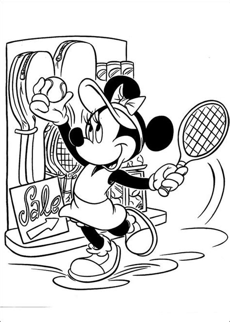 Kids n fun 38 coloring pages of Minnie Mouse
