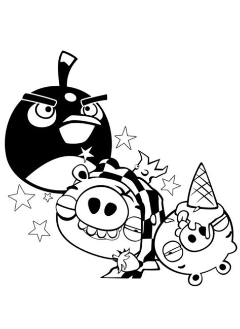 Kids n fun 42 coloring pages of Angry Birds
