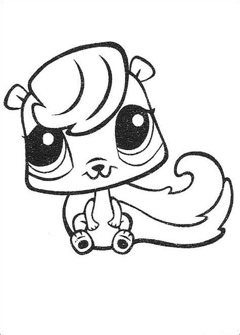 Kids n fun 50 coloring pages of Littlest Pet Shop