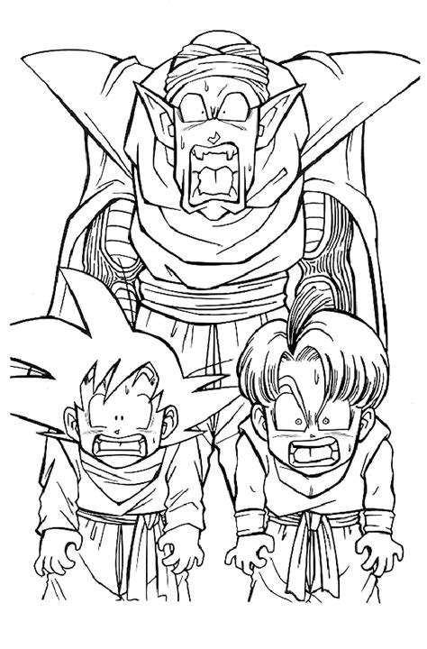 Kids n fun 55 coloring pages of Dragon Ball Z