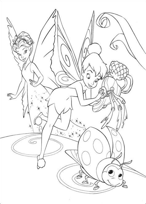 Kids n fun 58 coloring pages of Tinkerbell