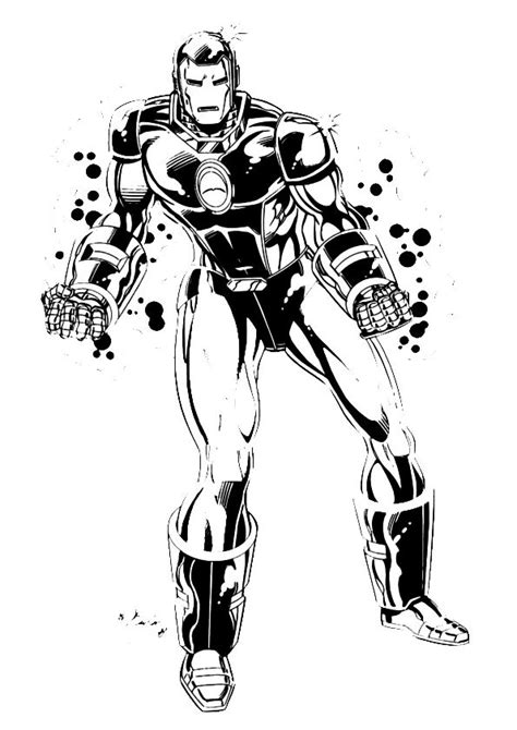 Kids n fun 60 coloring pages of Iron Man