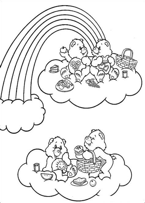 Kids n fun 63 coloring pages of Care Bears