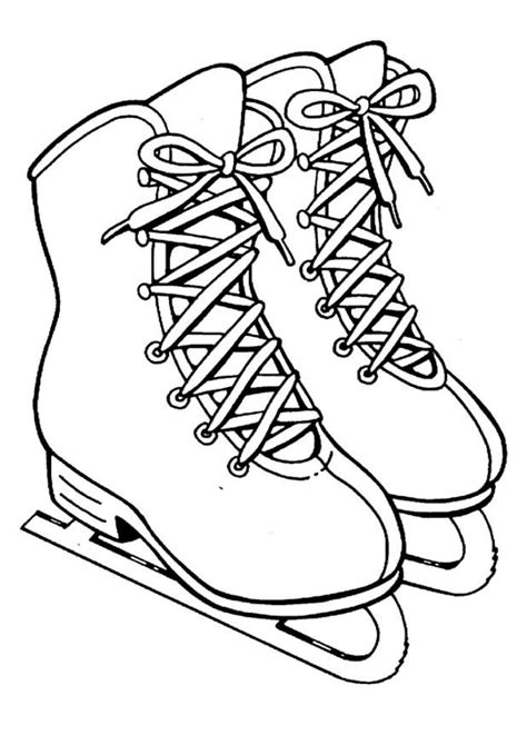 Kids n fun 8 coloring pages of Ice skating