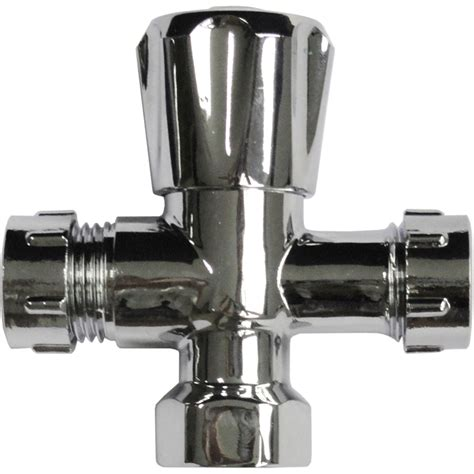 Kinetic 15 x 15mm Chrome Plated Double Mini Cistern Stop Tap