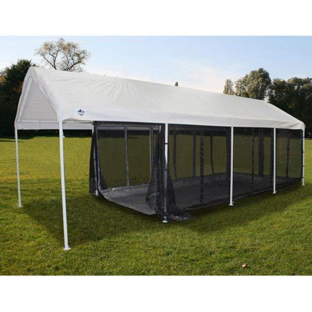 King Canopy 10 x 20 ft Black Canopy Screen Room with