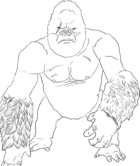 King Kong Coloring Pages Free and Printable