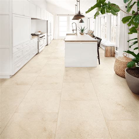 Kitchen Floor Porcelain Stone Look Tile Flooring