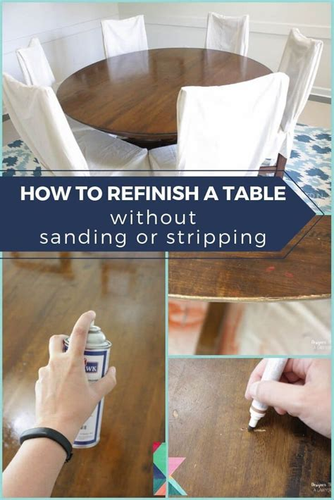 Kitchen Table Makeover Stripping and Refinishing Wood