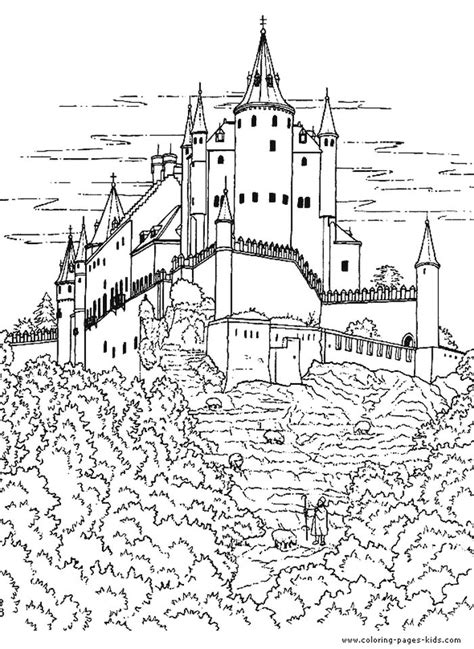 Knight In The Castle coloring page Free Printable