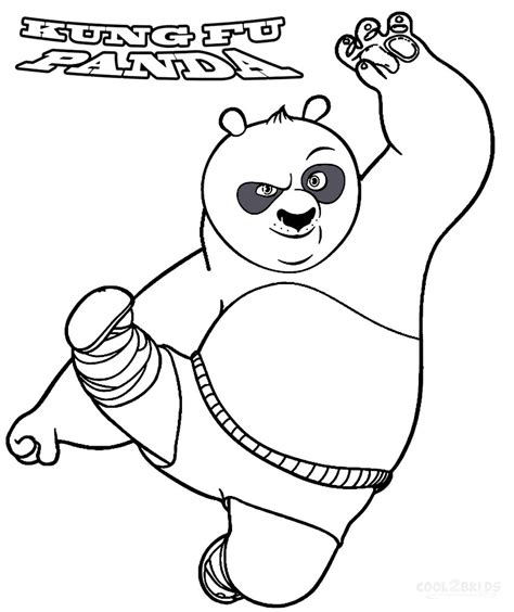 Kung Fu Panda Coloring Pages Free Printable Coloring
