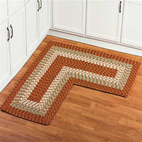 L Shaped Corner Braided Rug from Collections Etc