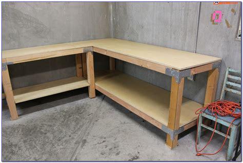 L Shaped Workbench Plans diyshedplansguidei