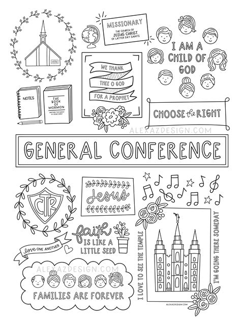 LDS General Conference Coloring Pages for Children