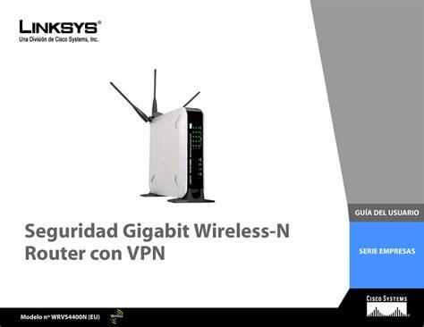 LINKSYS WRVS4400N USER MANUAL Pdf Download