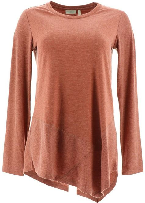 LOGO Lavish by Lori Goldstein French Terry Knit Top with