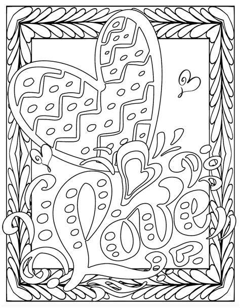 LOVE COLORING Pages Free Download Printable