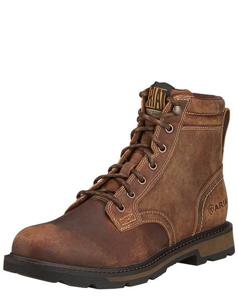Lace Up Mens Work Boots shoes
