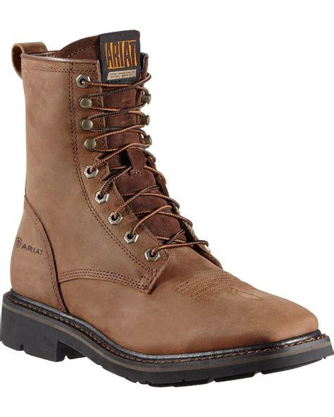 Lacer Boots Lace Up Work and Western Boots by Ariat and