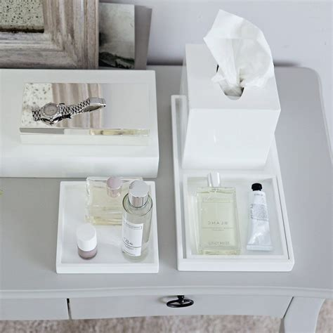 Lacquer Dressing Table Trays Set of 3 The White Company