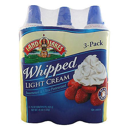 Land O Lakes Whipped Light Cream 15 oz cans 3 ct