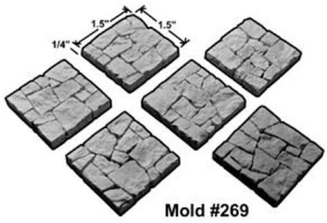 Large Rubble Floor Tile Mold 269 Hirst Arts Fantasy