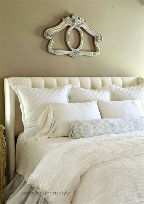 Layers of White Summer Bedding in the Master Bedroom
