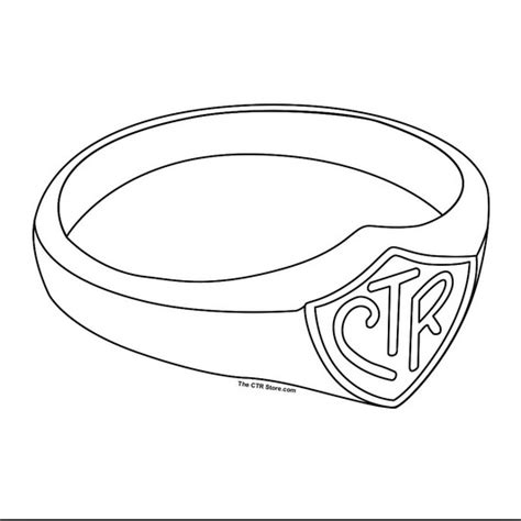 Lds CTR Coloring Page CTR Ring Coloring Page CTR Ring