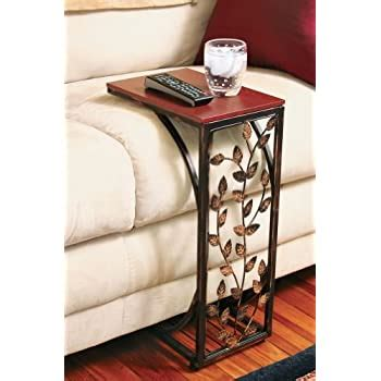 Leaf Design Sofa Side Table from Collections Etc