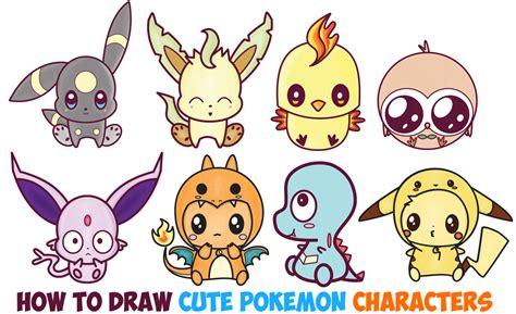 Learn How to Draw Cute Chibi Kawaii Pokemon Characters