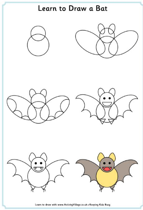 Learn to Draw Halloween Pictures Activity Village