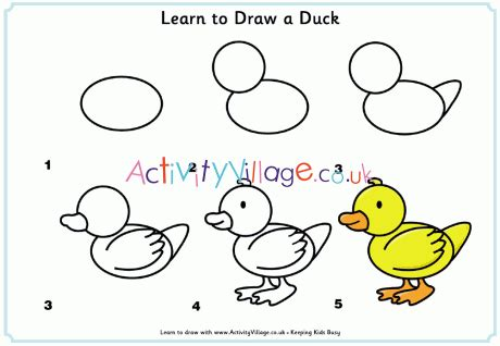 Learn to Draw a Duck Home Activity Village