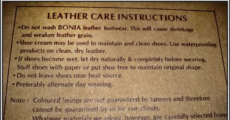Leather Care Instruction