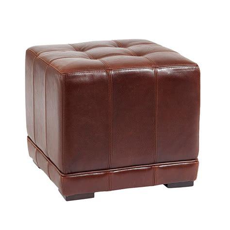 Leather Cube Ottoman Ballard Designs