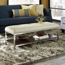Leather Faux Leather Coffee Tables You ll Love Wayfair