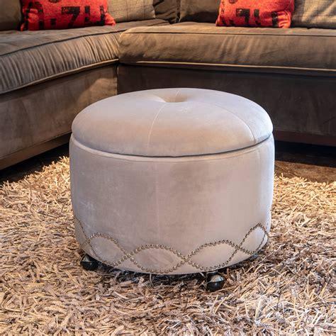 Leather Storage Ottoman On Wheels Sears