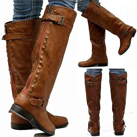 Leather Thigh High Boots For Women ShopStyle Canada
