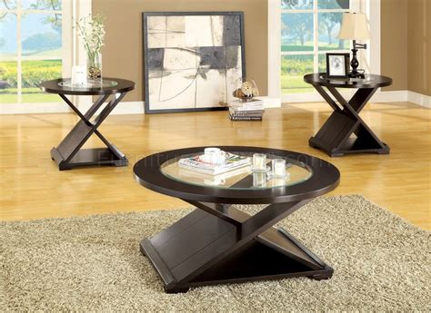 Leather Top Solid Wood Coffee Table 2 End Tables Set eBay