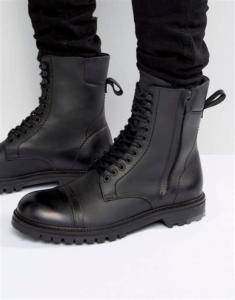 Leather boots for men from HUGO BOSS
