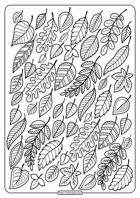 Leaves coloring pages Free printable coloring sheets for