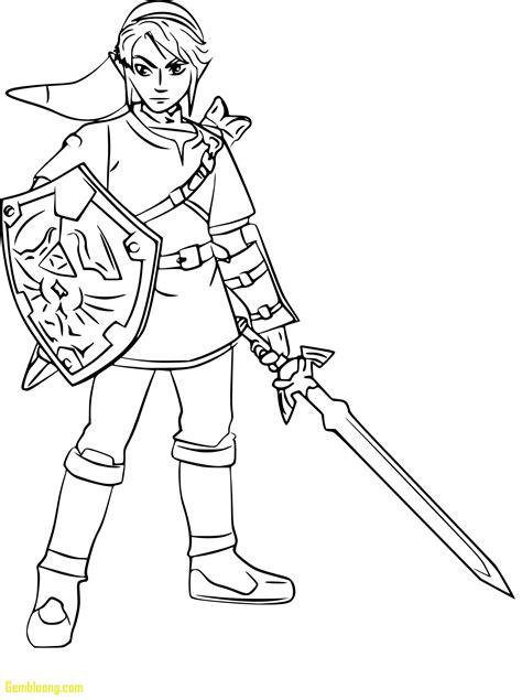 Legend Of Zelda Link Coloring Pages GetColoringPages
