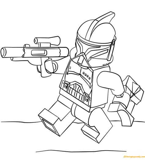 Lego Clone Trooper coloring page Free Printable Coloring