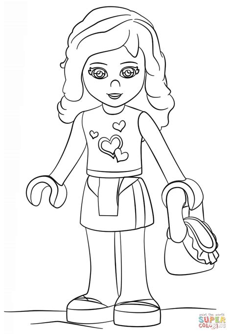 Lego Friends Olivia coloring page Free Printable