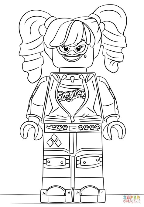 Lego Harley Quinn coloring page Free Printable Coloring